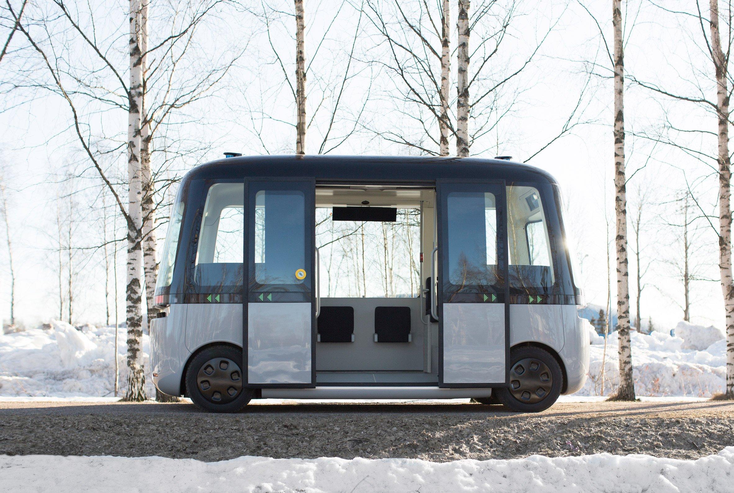 Muji and Sensible 4 debut Gacha self-driving bus in Helsinki