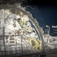 Rendered site plan of National Museum of Qatar in Doha by Ateliers Jean Nouvel