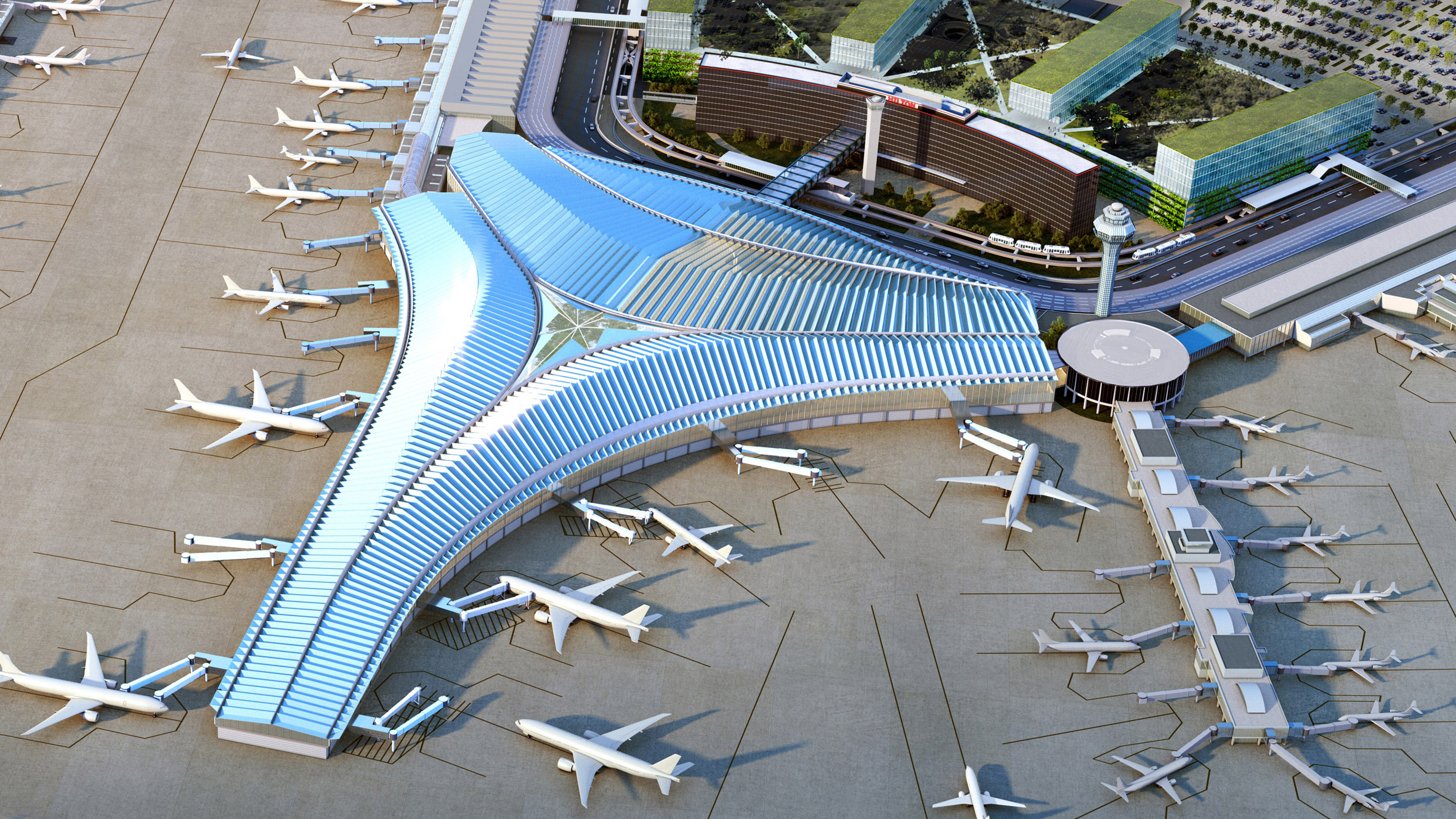 This week on Dezeen: Chicago O'Hare airport terminal