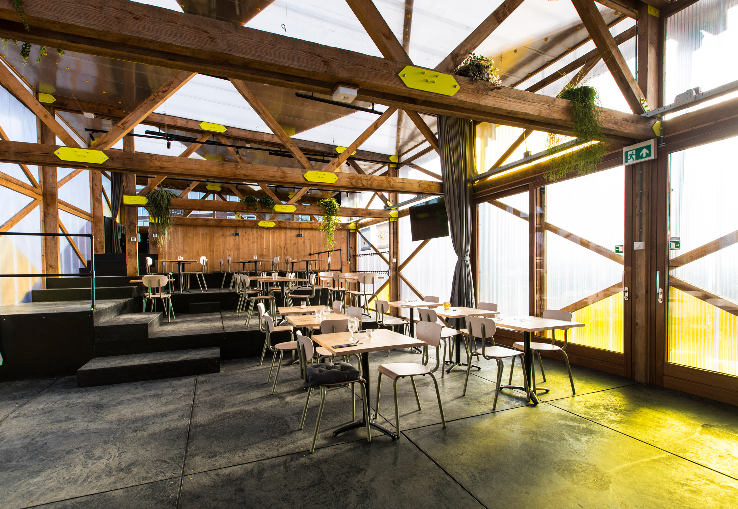 RAUM temporary restaurant pavilion by Overtreders W in Utrecht