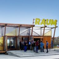 RAUM temporary restaurant pavilion by Overtreders W in Utrecht