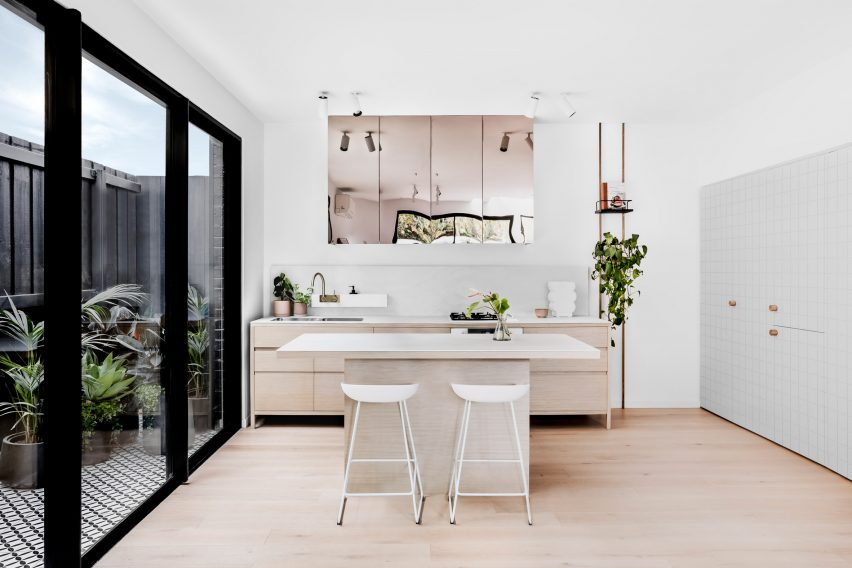 Interiors of Pine Ave townhouses by Cera Stribley Architects and The Stella Collective