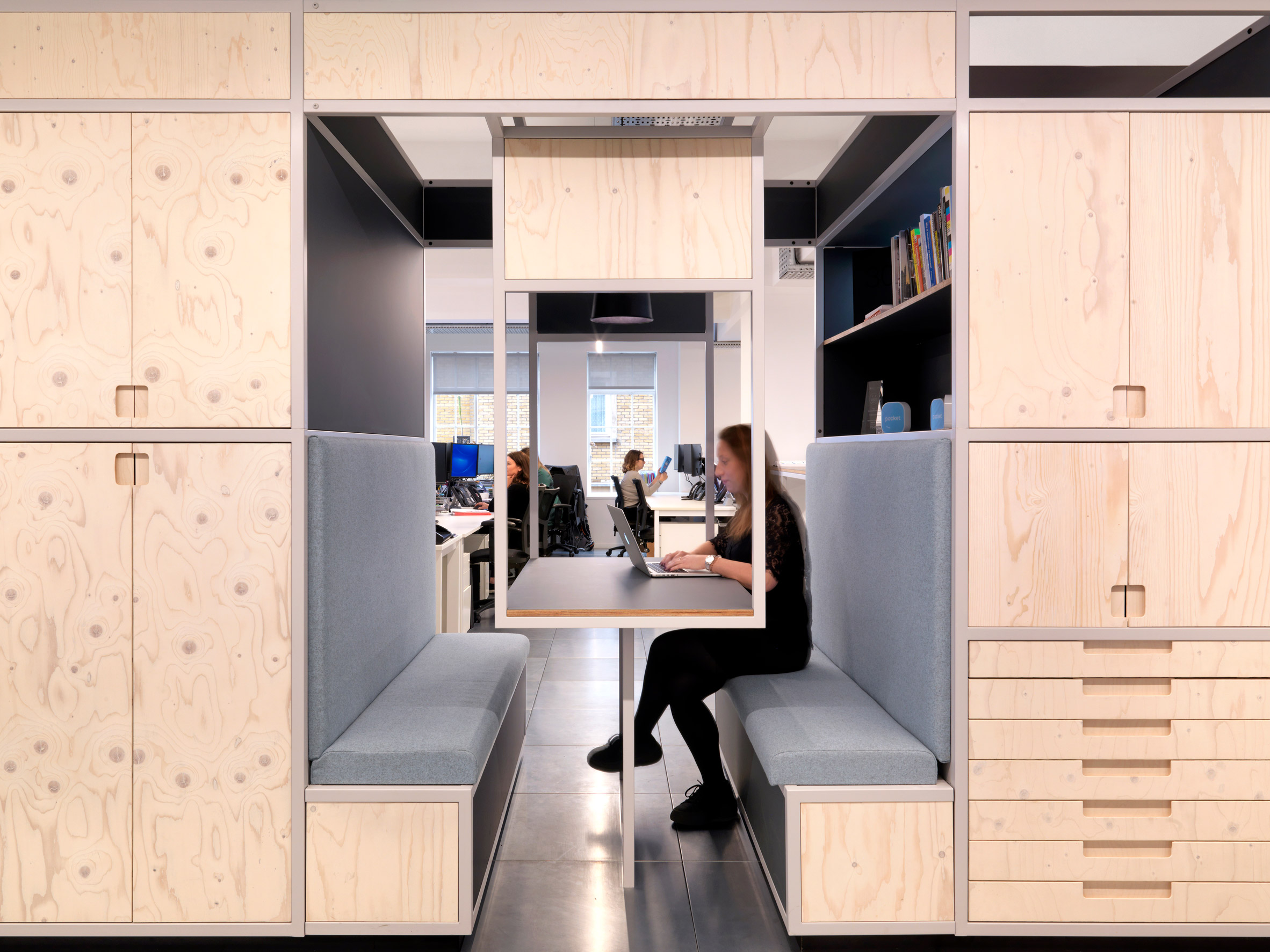 Interiors of Pocket Living office, designed by Threefold Architects