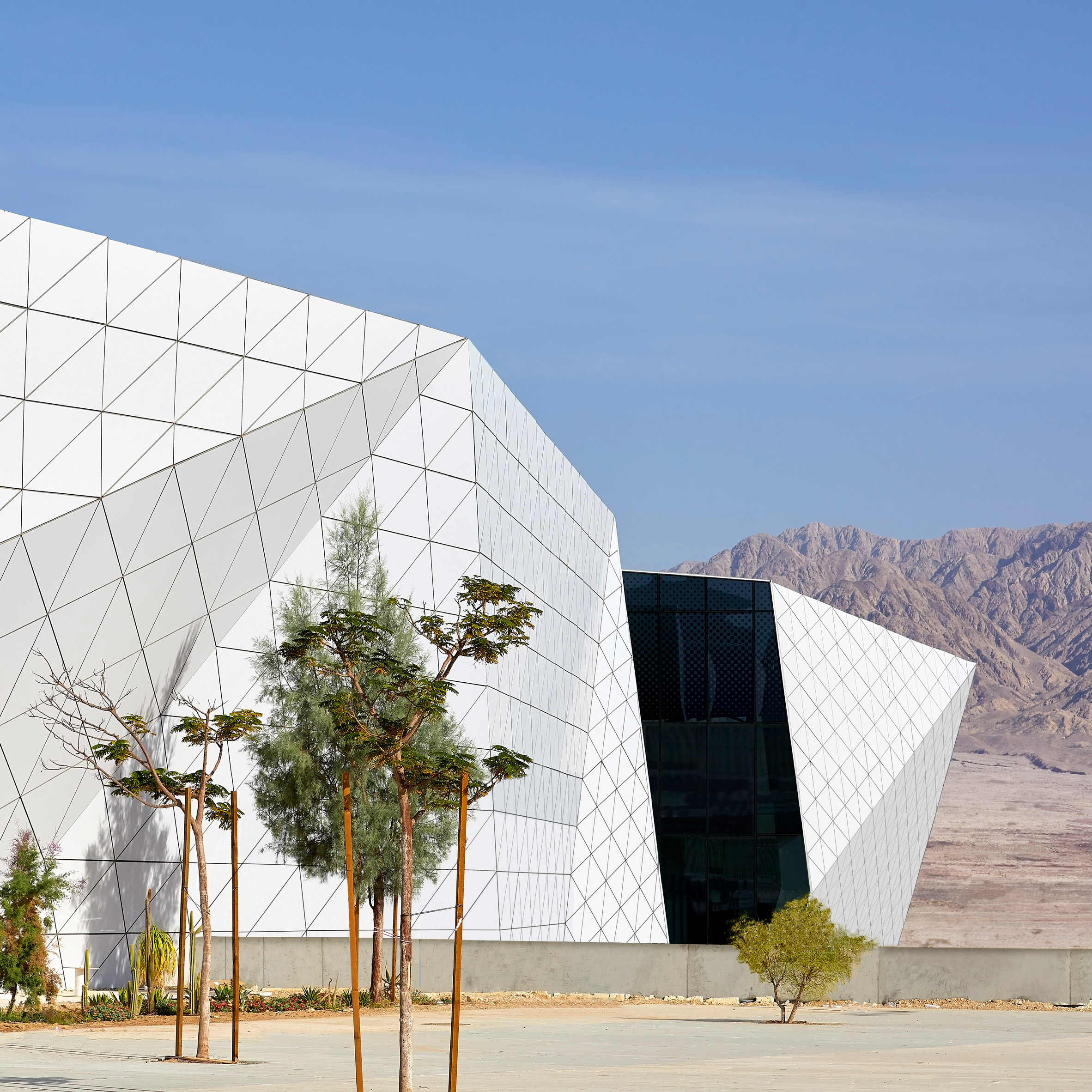 Ramon Airport by Amir Mann-Ami Shinar Architects and Moshe Zur Architects in Negev desert, Israel