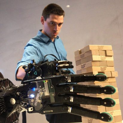 Robot hand with sense of touch by Shadow Robot Company, SynTouch and HaptX.