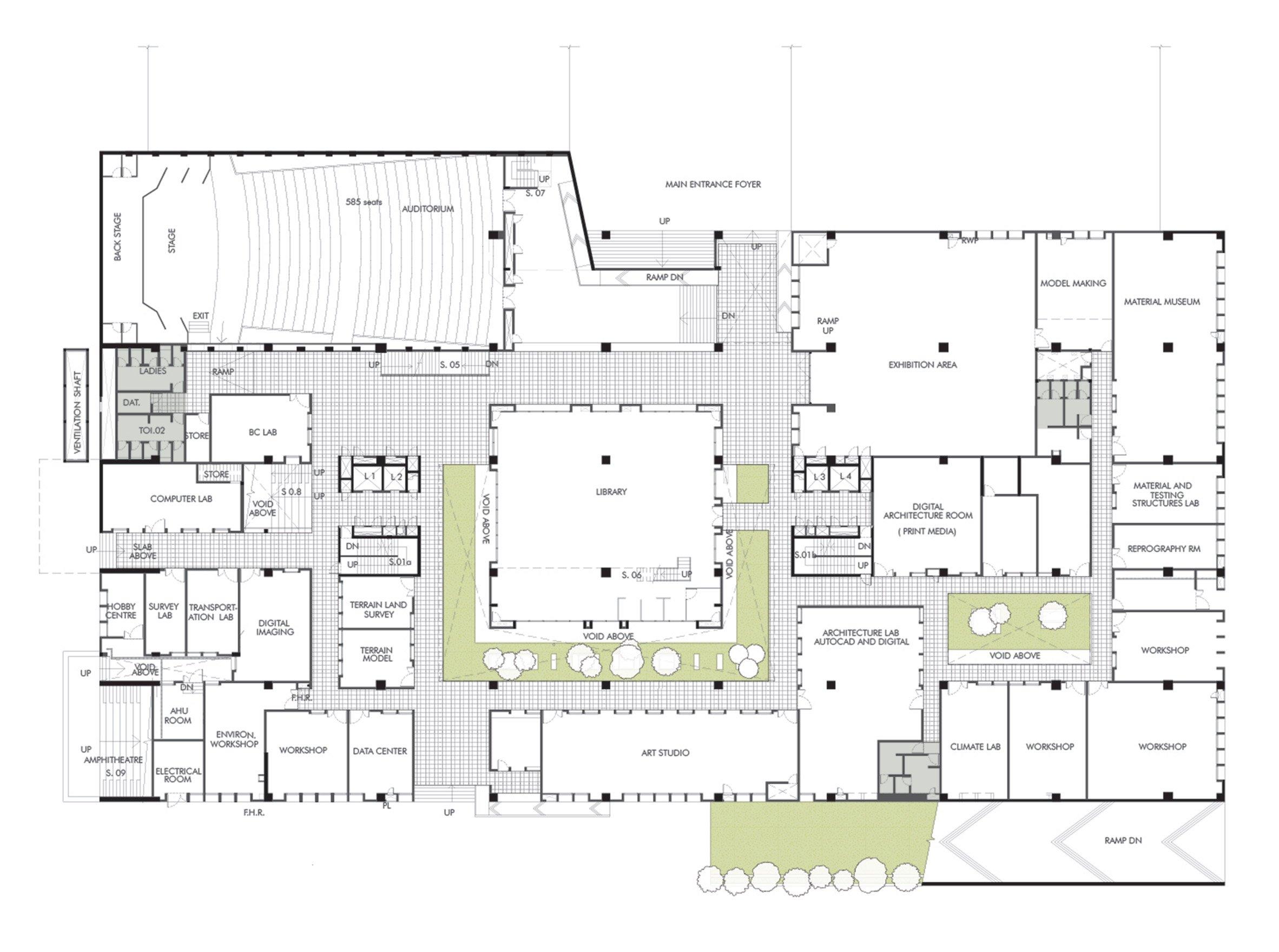 Mobile Offices Designs Brutalist Concrete Architecture School In India