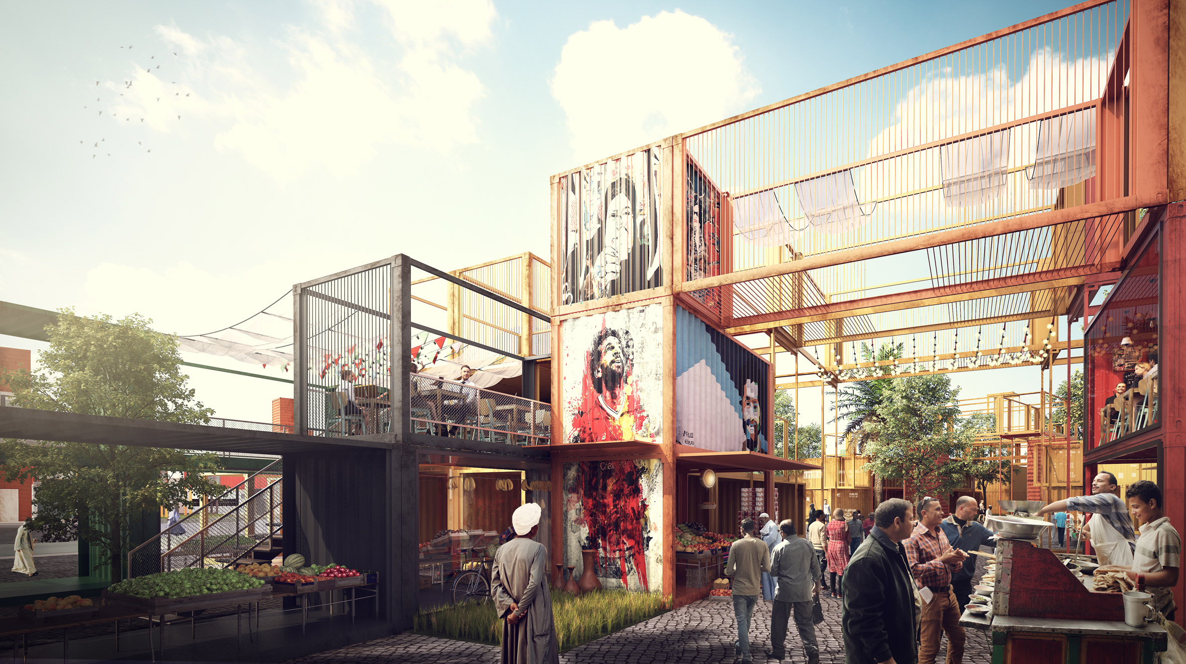 Sheltainer offers shipping containers as alternative housing for Cairo's cemetery-dwellers
