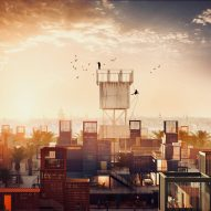 Shipping-container micro housing proposed for City of the Dead in Cairo