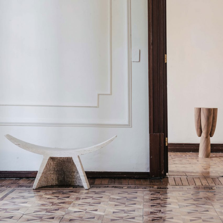 EWE's Sincretismo collection includes stone seat based on Mexican birthing chair
