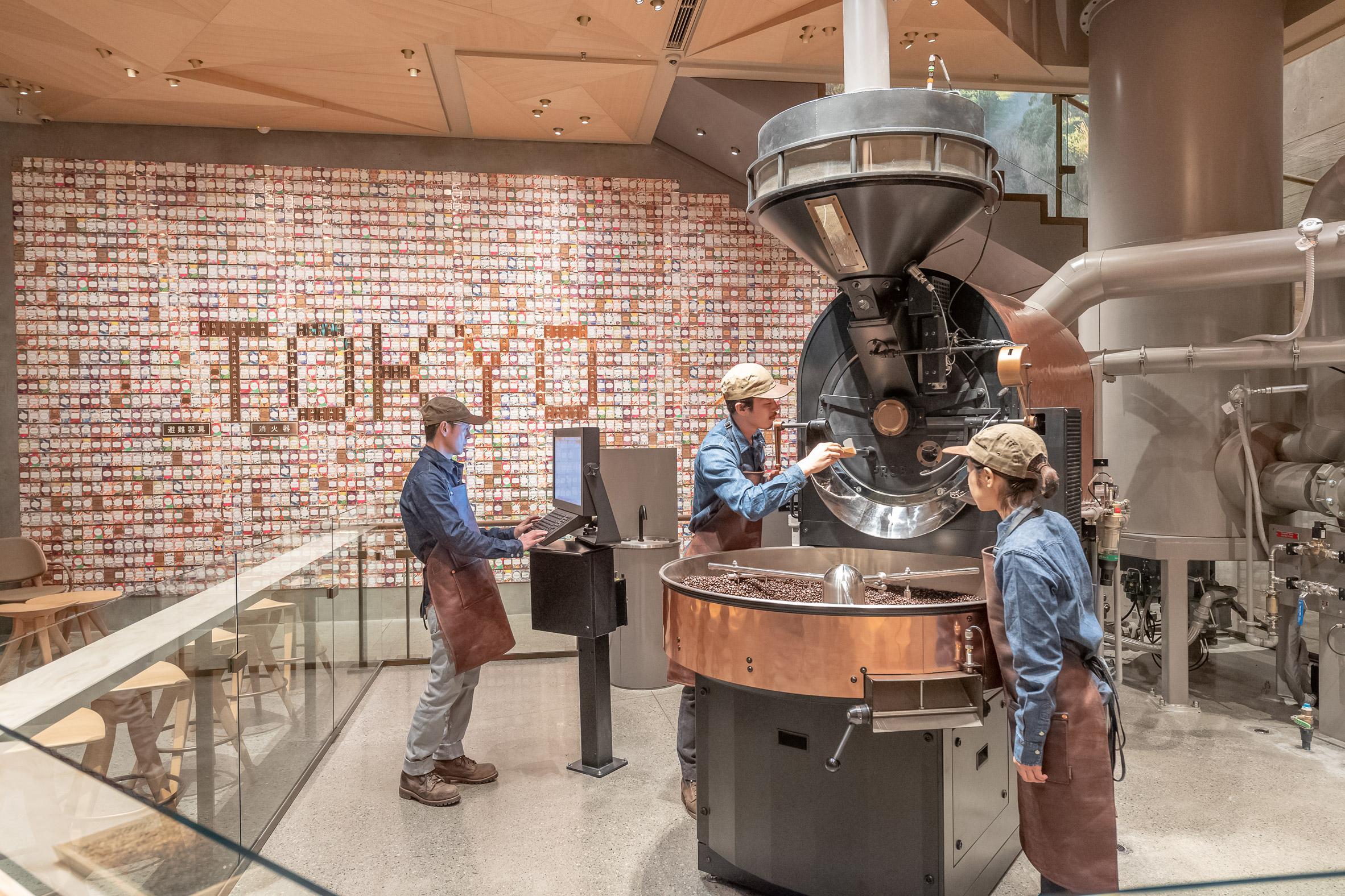 Interiors of Starbucks Reserve Roastery Tokyo
