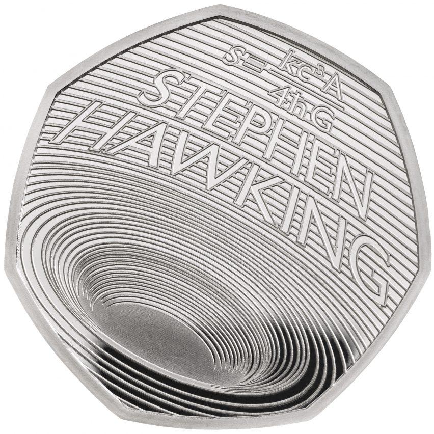 Moneda conmemorativa de Stephen Hawking