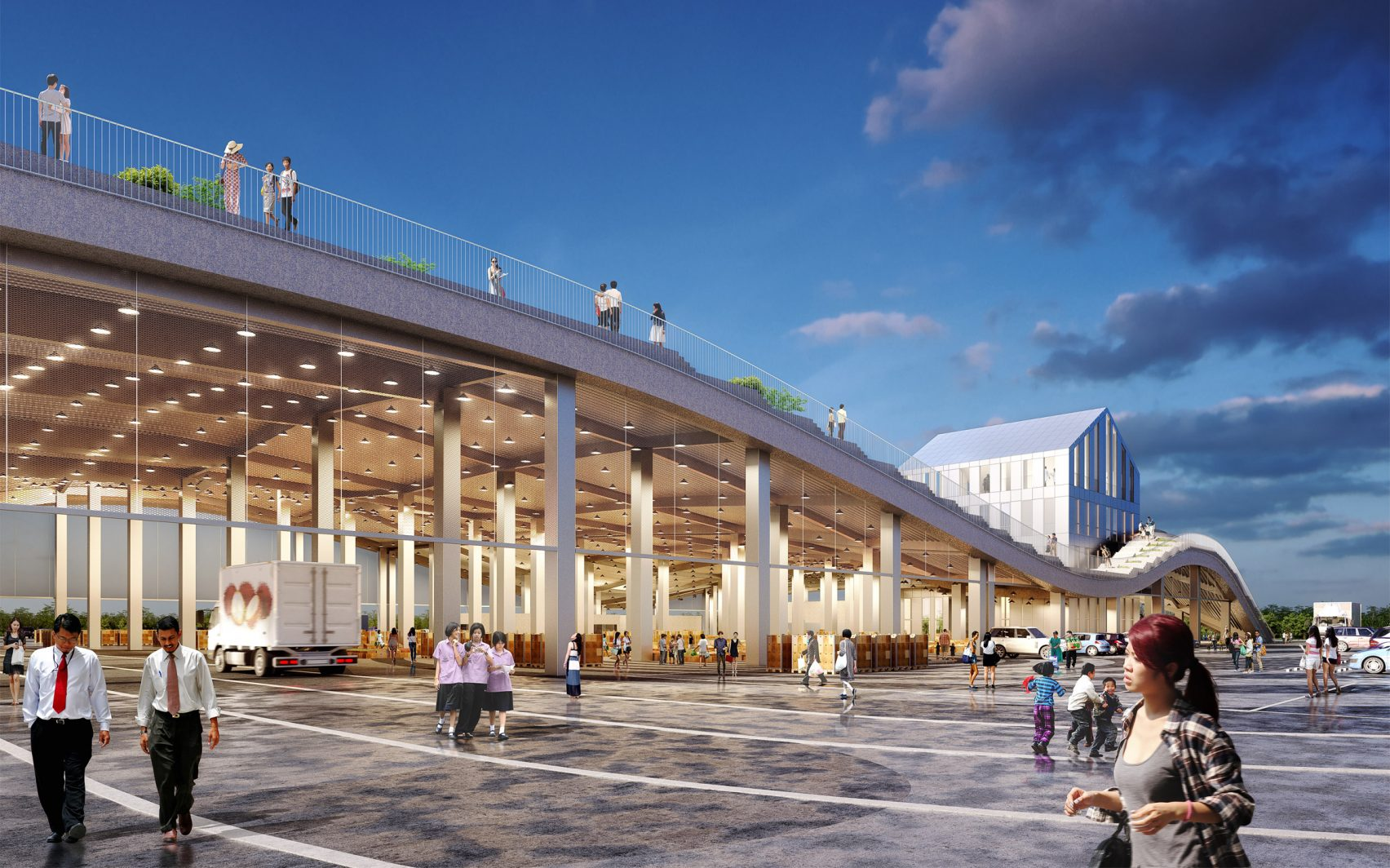 Tainan Xinhua Fruit and Vegetable Market by MVRDV will have rooftop farm