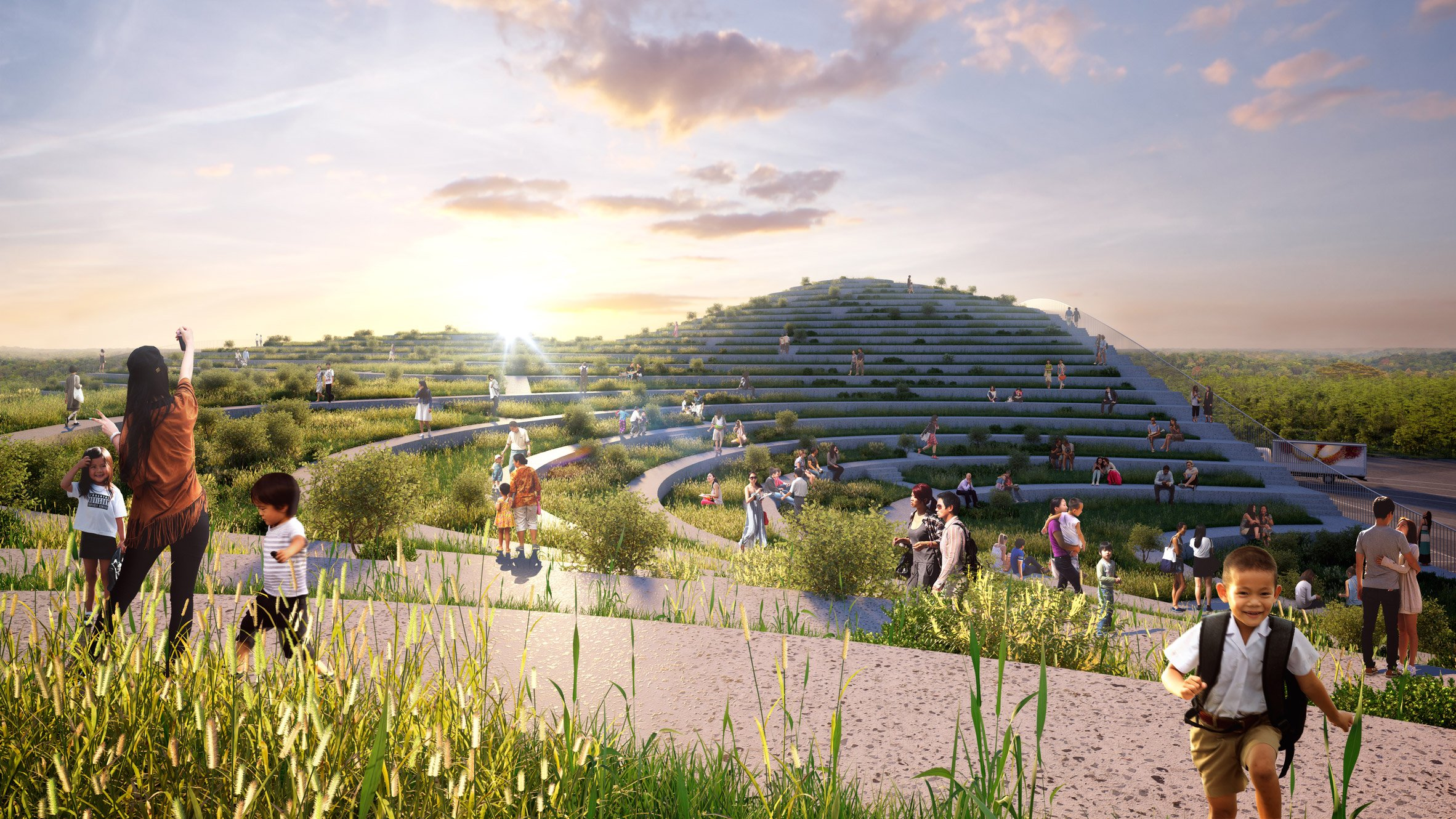 MVRDV plans Tainan Xinhua Fruit and Vegetable Market with rooftop farm