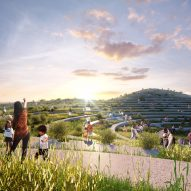 Undulating rooftop farm terraces will top food market designed by MVRDV for Taiwan