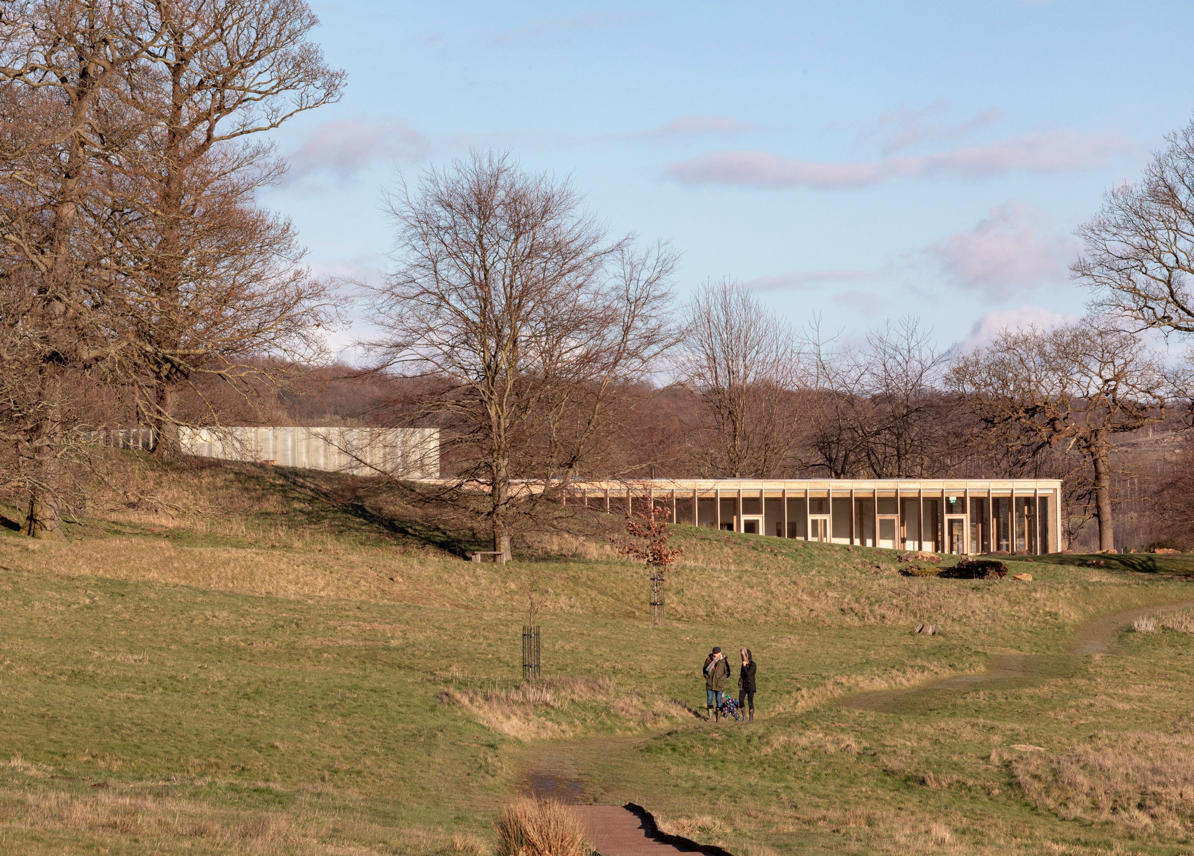 The Weston visitor centre at Yorkshire Sculpture Park by Feilden Fowles