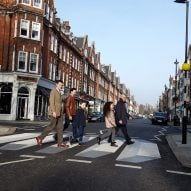 London's first 3D zebra crossing encourages drivers to slow down