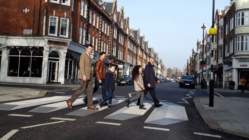 This week on Dezeen: London's first 3D zebra crossing