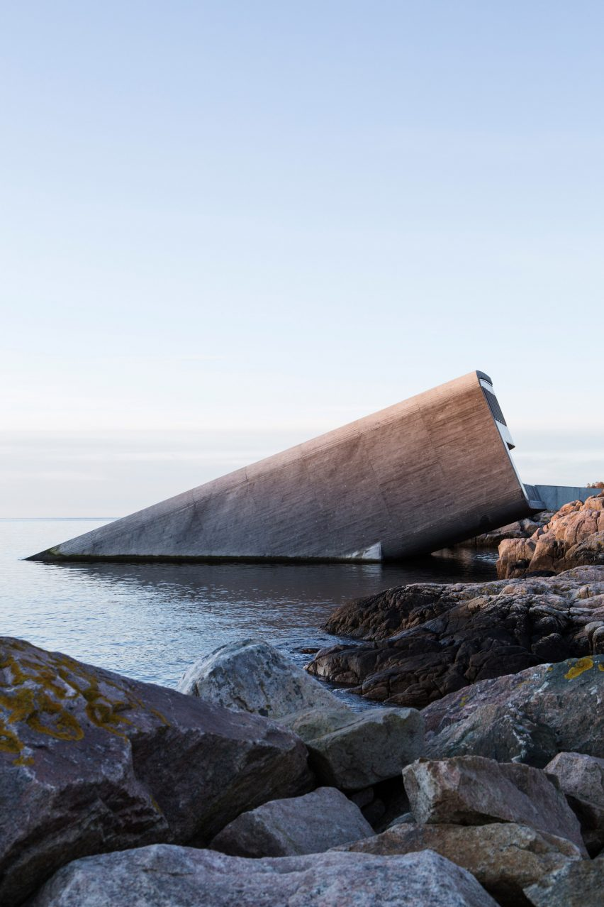 Europe's first underwater restaurant, Under, by Snohetta in BÃ¥ly, south Norway