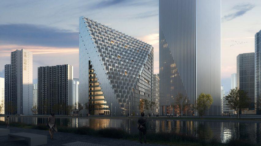 Visual of Xinhu Hangzhou Prism by OMA