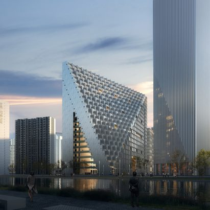 Visual of Xinhu Hangzhou Prism by OMA