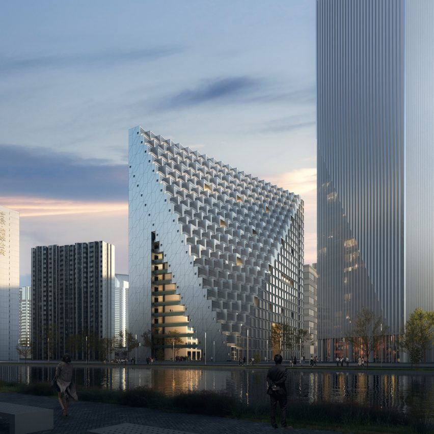 OMA reveals visuals of Xinhu Hangzhou Prism