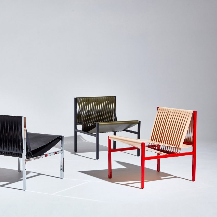 Dion Lee repurposes traditional tailoring techniques for leather furniture collection