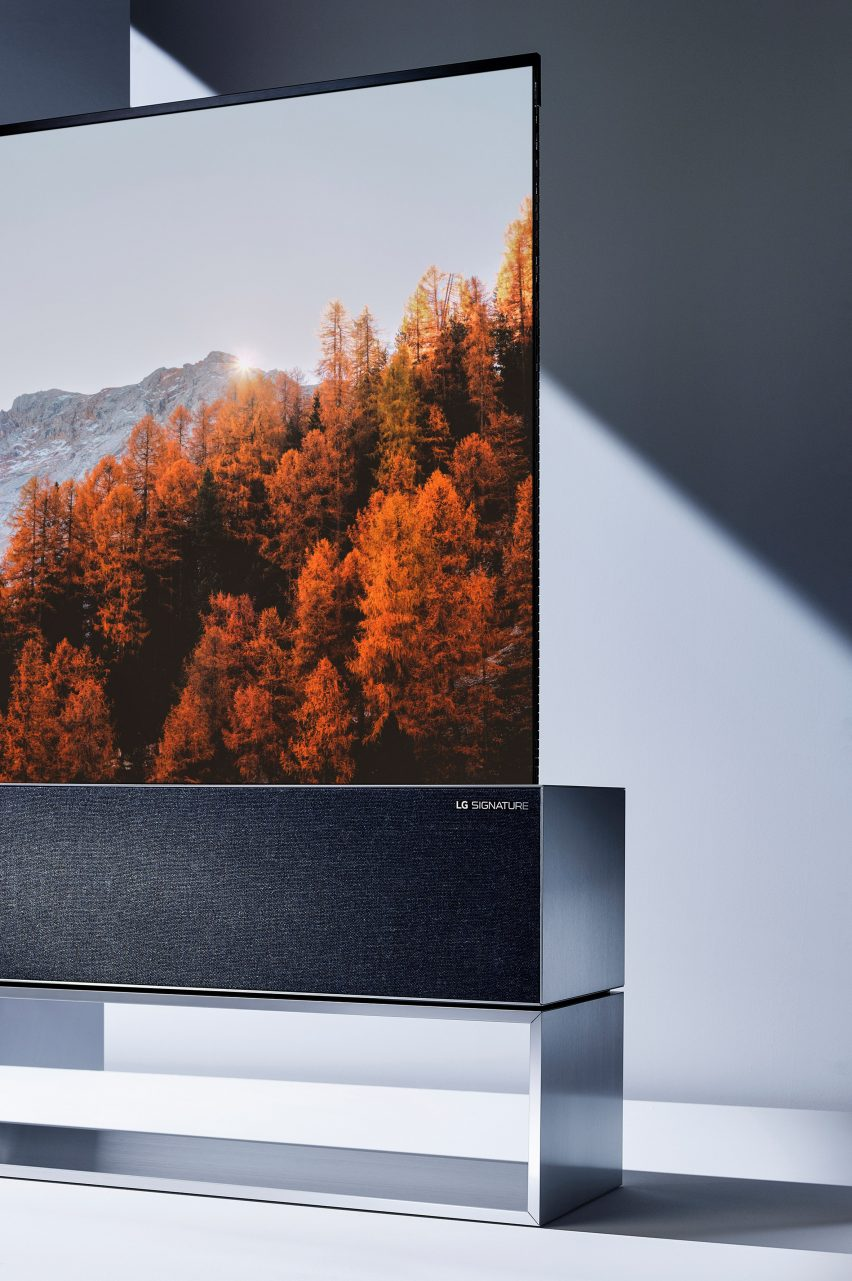 Foster + Partners and LG partner on Signature OLED TV R roll-up