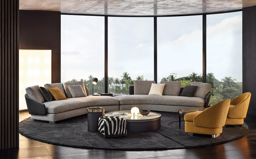 Minotti Explores New Forms With Furniture Collection At Milan