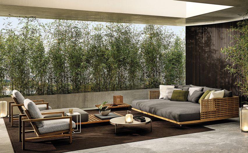 Quadrado outdoor furniture by Studio MK27 for Minotti