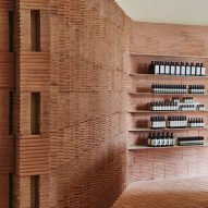 Frida Escobedo segments Aesop Park Slope with rammed-earth brickwork