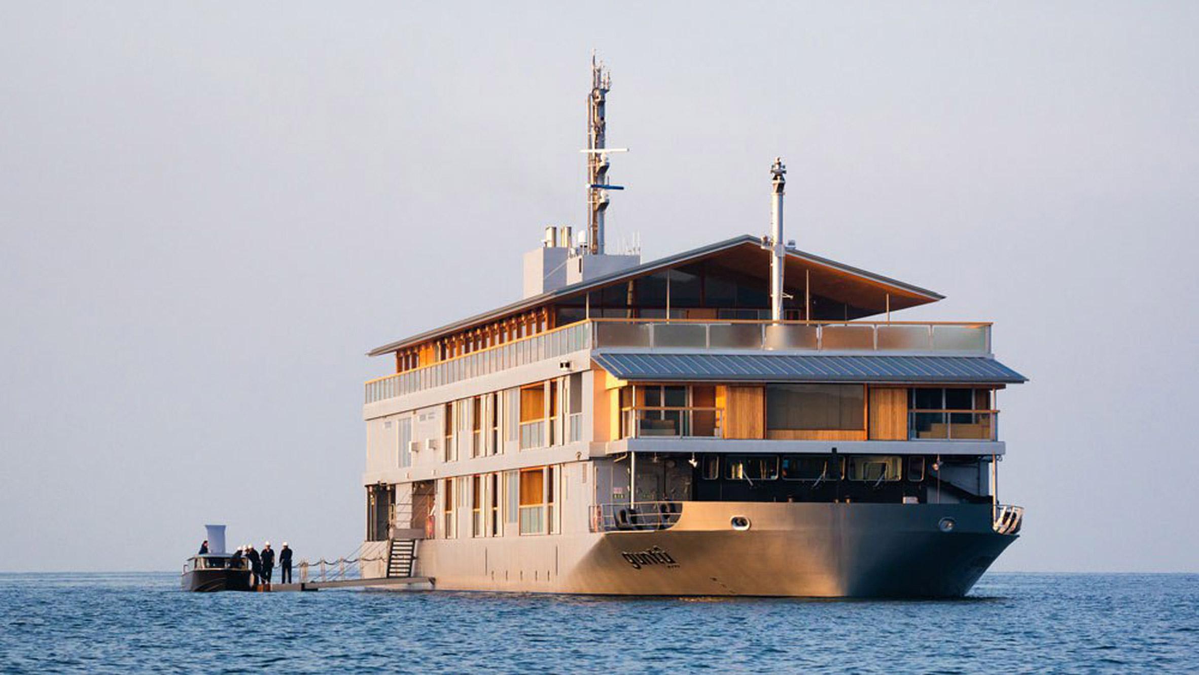 Guntû hotel aboard a ship in Japan's Seto Inland Sea