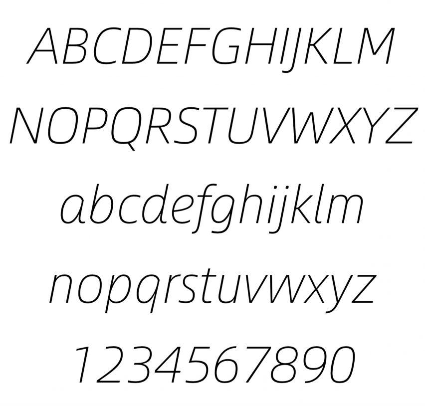 Alibaba Sans typeface italic