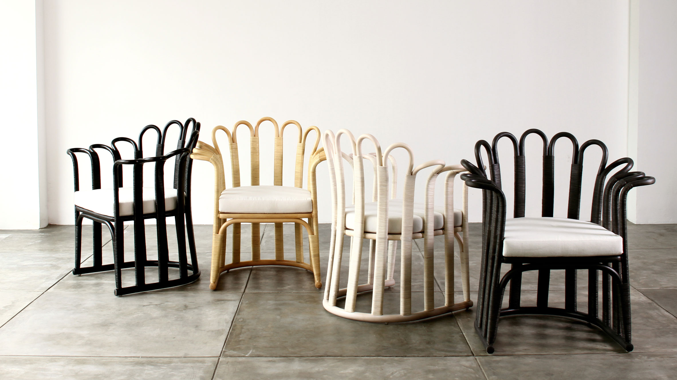 Tropicália Modernity rattan furniture by Alvin T at Milan design week
