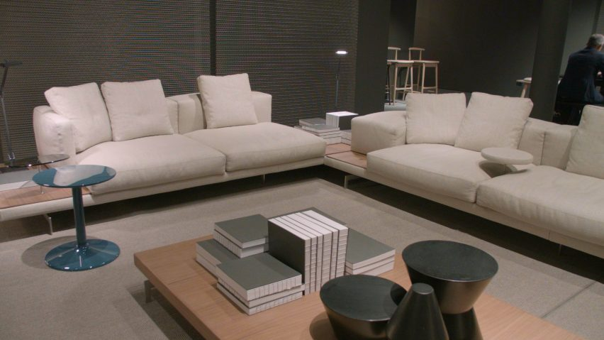 The Dock sofa system was designed forfurniture manufacturer B&B Italia by Piero Lissoni, and was launched at Salone del Mobile in Milan
