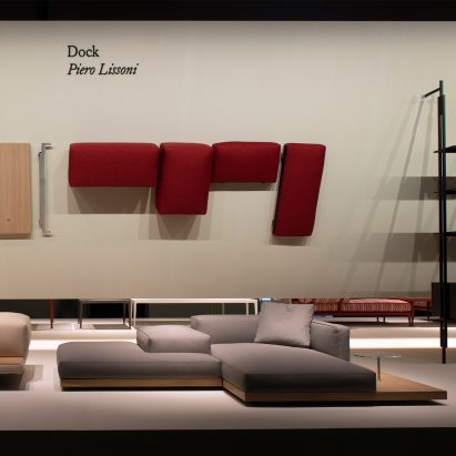 The Dock sofa system was designed for furniture manufacturer B&B Italia by Piero Lissoni, and was launched at Salone del Mobile in Milan