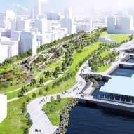 BIG unveils park-covered highway for Brooklyn's waterfront