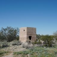 Student builds rammed-earth shelter at Frank Lloyd Wright's architecture school