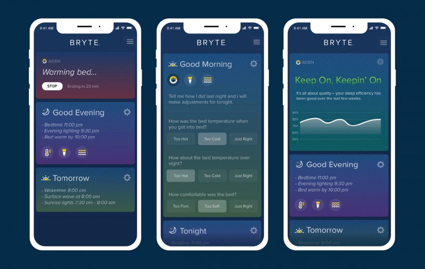 Bryte smart bed adjusts throughout the night to help users stay asleep