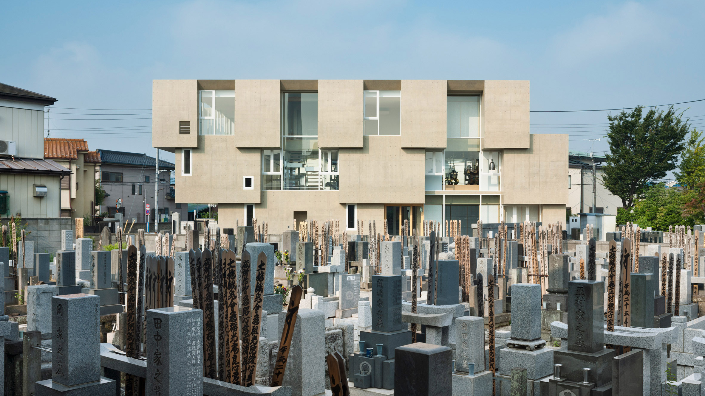 Toru Kashihara Architects design stepped concrete temple in