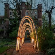 Carlo Ratti grows Gaudí-inspired structures with a kilometre of mushroom mycelium