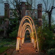 Carlo Ratti grows Gaudí-inspired structures with a kilometre of mushroom mycelium