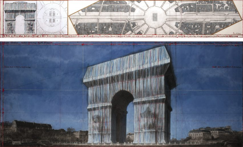 Christo to wrap Arc de Triomphe in Paris in silver fabric