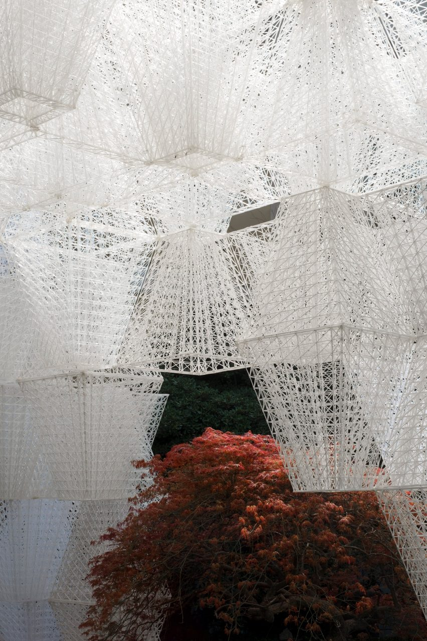 Arthur Mamou-Mani and COS create 3D-printed Conifera installation from 700 bioplastic bricks in Milanese palazzo