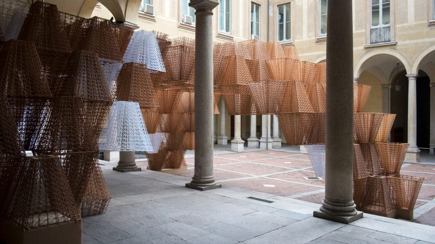 Arthur Mamou-Mani's Conifera installation for COS at Milan Design Week