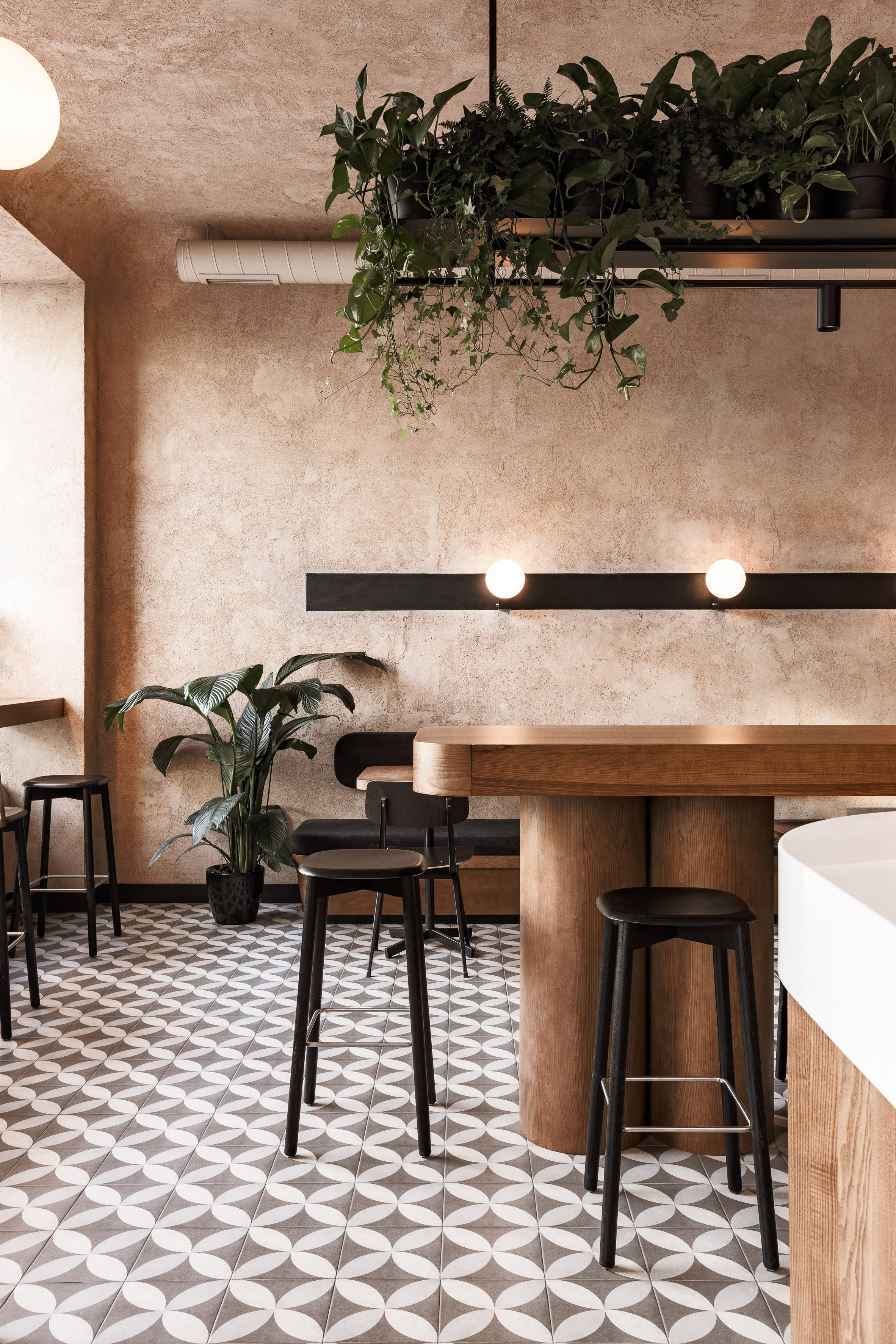Interiors of Daily cafe by Sivak & Partners