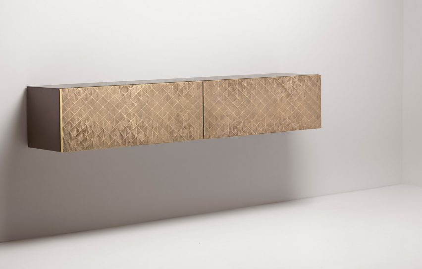 Tako console by Filippo Pisan for De Castelli