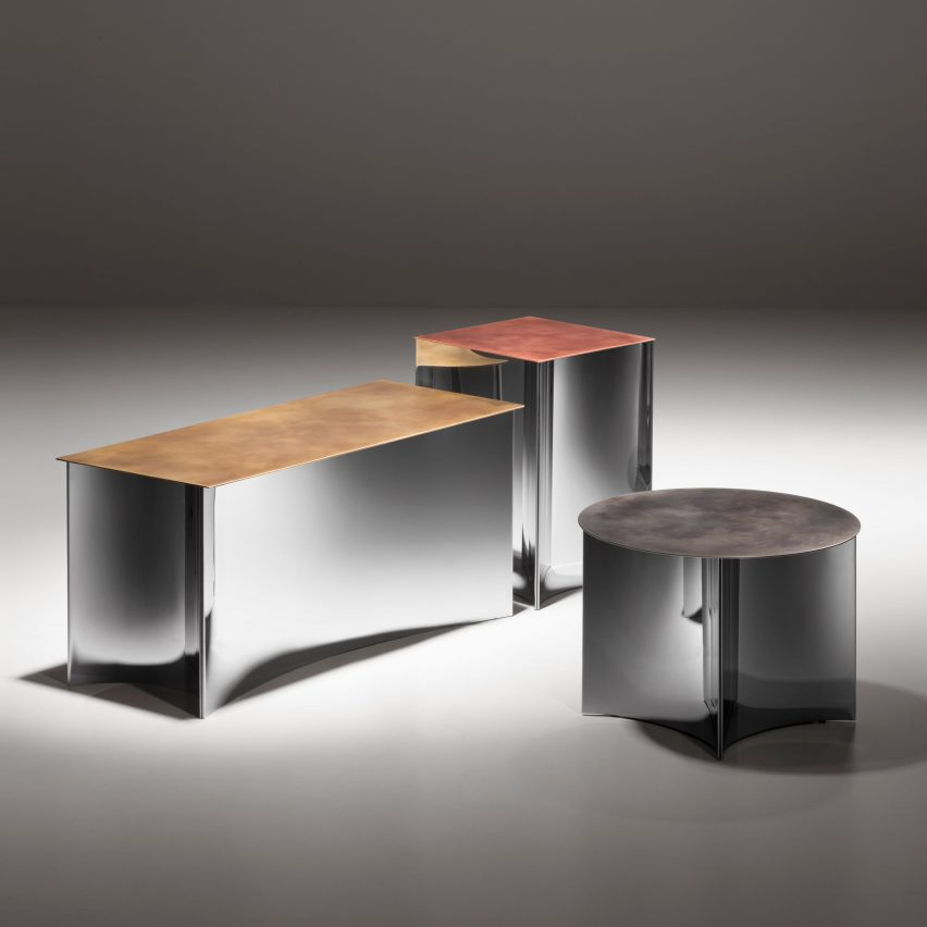 Alchemy side tables by Stormo for De Castelli