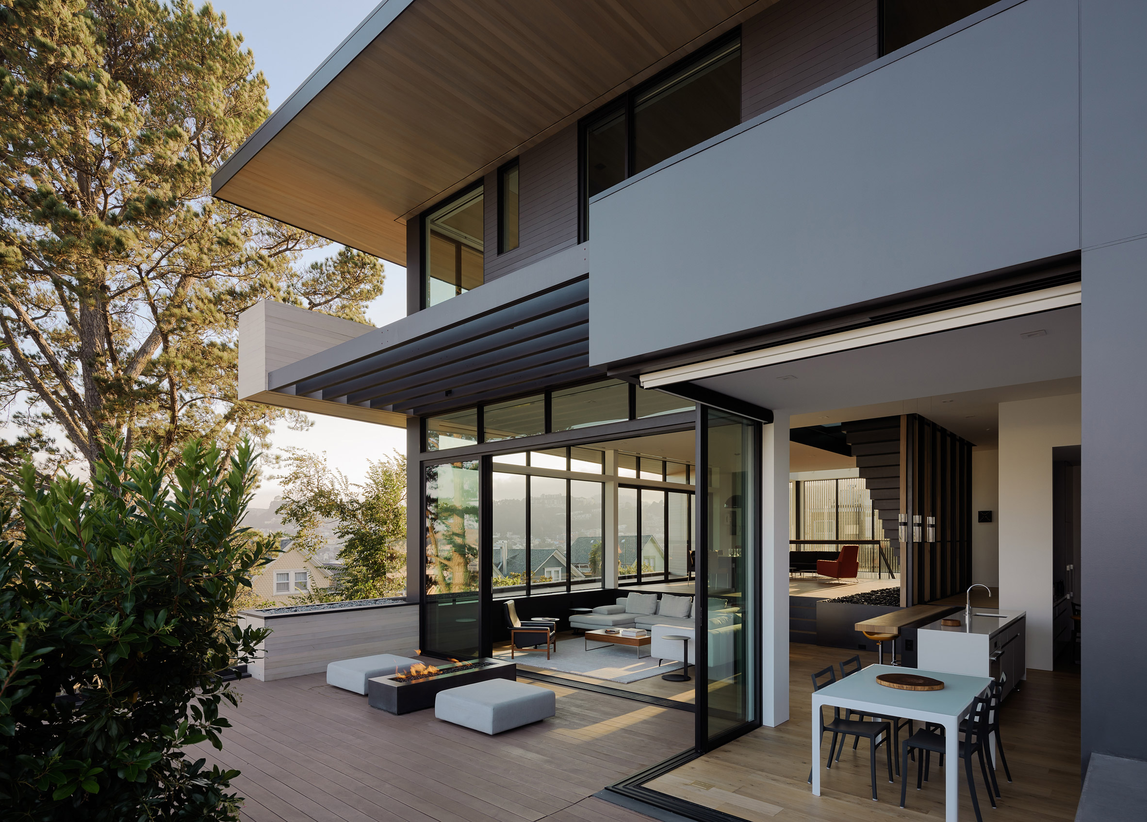 Dolores Heights San Francisco cedar and glass residence by John Maniscalco Architects