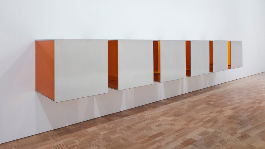 Donald Judd exhibition at MoMA