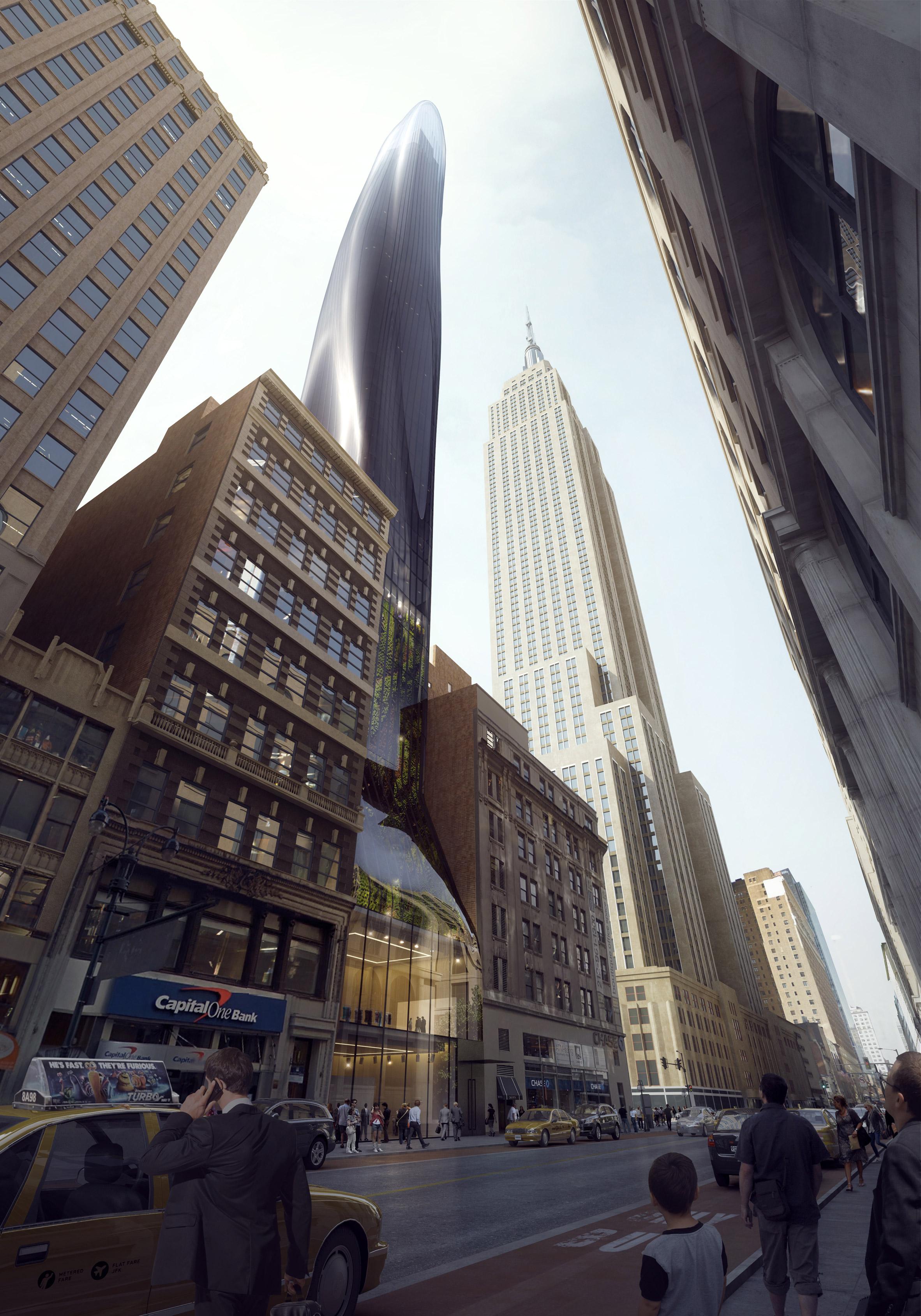 East 34th будет иметь органические формы как снаружи, так и внутри